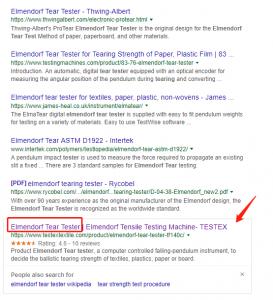 Elmendorf Tear Tester Google