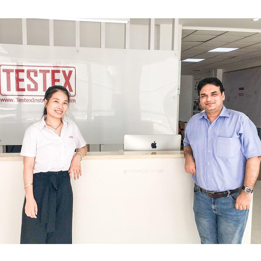 India Customer Visited TESTEX