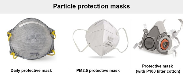 Particle protective masks