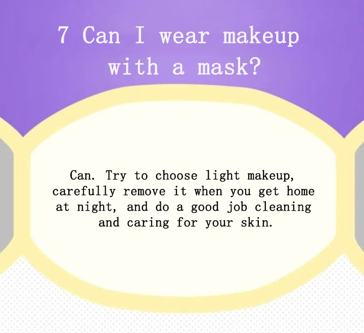 Can I wear makeup with a mask