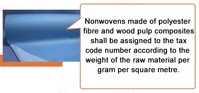 Nonwovens made of polyester fiber and wood pulp