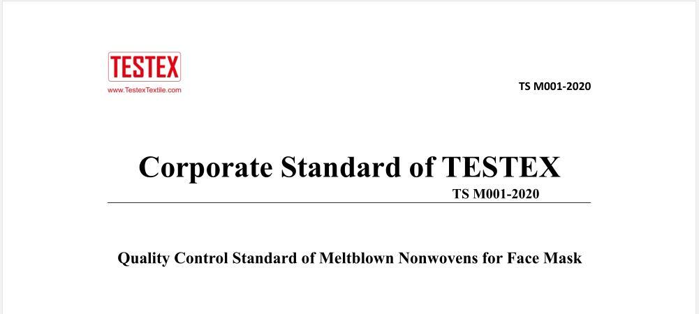 Meltblown farbic standard